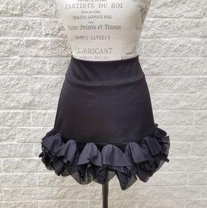 Express Design Studio Black Ruffled Skirt